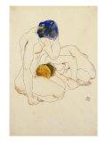 Two Friends, 1912 Giclee-trykk av Egon Schiele