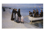 The Departure of the Fishing Fleet, 1894 Giclee Print by Peder Severin Kröyer