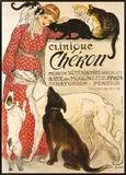 Clínica Cheron, em francês, cerca de 1905 Impressão em tela emoldurada por Théophile Alexandre Steinlen