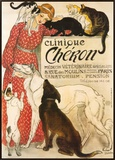 Clinique Cheron, c.1905 Framed Canvas Print by Théophile Alexandre Steinlen
