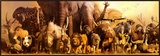 Arca de Noé  Impressão em tela emoldurada por Haruko Takino