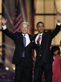 Barack Obama and Joe Biden at the Democratic National Convention 2008, Denver, CO Reproduction photographique