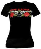 Women's: Guns N Roses - Roses & Pistols Tシャツ