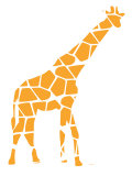 Orange réticulé (girafe) Posters par  Avalisa