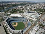 Old New York Yankees Stadium next to New Ballpark, New York, NY Reproduction photographique Premium