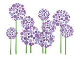Purple Allium Art by  Avalisa