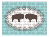 Seagreen Buffalo Belt Buckle Posters par  Avalisa