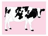 Pink Dairy Cow Posters par  Avalisa