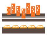 Orange Subway Poster par  Avalisa