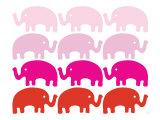 Pink Elephant Family Posters par  Avalisa