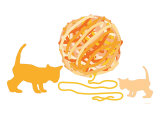 Orange Ball of Yarn Posters par  Avalisa