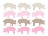Pink Pig Family Affiche par  Avalisa