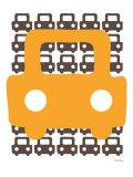 Orange Auto Posters par  Avalisa