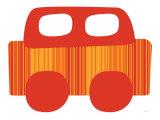 Red Stripe Car Posters par  Avalisa