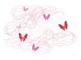 Pink Butterfly Trails Plakater av  Avalisa