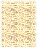 Orange Joy Joy Joy Poster di Avalisa,