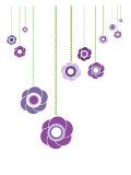 Purple Hanging Flowers Posters par  Avalisa