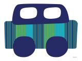 Blue Stripe Car Poster par  Avalisa