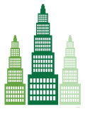 Green Skyscrapers Posters par  Avalisa