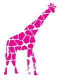Pink Reticulated Posters par  Avalisa