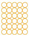 Orange Circles Art by  Avalisa
