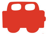 Auto rouge Affiche par  Avalisa