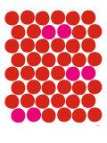 Red Pink Dots Plakater av  Avalisa