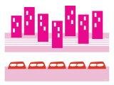 Pink Subway Poster par  Avalisa