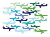 Airplane Pattern Posters par  Avalisa