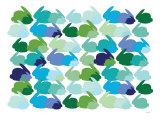 Cool Rabbit Pattern Posters par  Avalisa