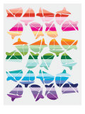 Sunset Sailboats Affiche par  Avalisa