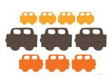 Orange Cars Posters par  Avalisa