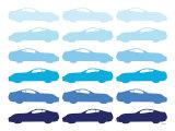 Blue Sportscar Plakater av  Avalisa