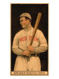 Boston, MA, Boston Red Sox, Tristam Speaker, Baseball Card Prints by  Lantern Press