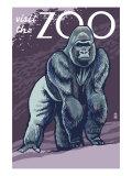 Visit the Zoo, Gorilla Scene Láminas por  Lantern Press