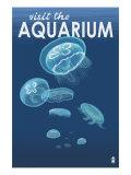 Visit the Aquarium, Jellyfish Scene Láminas por  Lantern Press