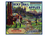 Lucky Trail Brand Apple Label, Watsonville, California Láminas por  Lantern Press
