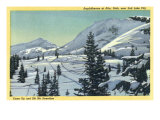 Alta, Utah, Aerial View of a Snowy Amphitheatre, Skiers Skiing Poster by  Lantern Press