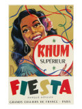Rhum Superieur Fiesta Brand Rum Label Posters by  Lantern Press