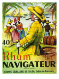 Rhum Navigateur Brand Rum Label Poster by  Lantern Press