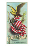 Virginia, Golden Eagle Brand Tobacco Label Posters by  Lantern Press