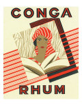 Conga Rhum Brand Rum Label Prints by  Lantern Press
