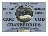 Cape Cod, Massachusetts, Plymouth Rock Brand Cranberry Label Posters tekijänä  Lantern Press