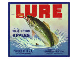 Oroville, Washington, Lure Brand Apple Label Póster por  Lantern Press
