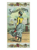 Petersburg, Virginia, Sailor's Hope Brand Tobacco Label Posters by  Lantern Press