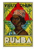 Vieux Rhum Rumba Brand Rum Label Prints by  Lantern Press