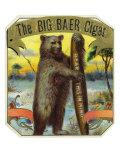 The Big Baer Cigar, Bear-Facts Brand Cigar Outer Box Label, Misspelling Pósters por  Lantern Press