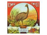 Petersburg, Virginia, Emu Twist Brand Tobacco Label Prints by  Lantern Press