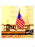 Wall Street, New York Kunstdruck von  Tosh
