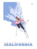 Squaw Valley, California, Stylized Skier Art by  Lantern Press